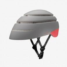 Closca Loop Helm grijs/rood- Inklapbare Design Fietshelm EN1078 - Skatting - step - monowheel