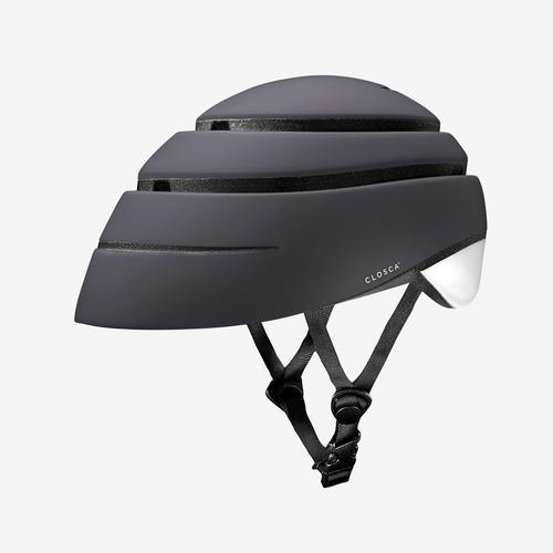 Closca Loop Helm Zwart - Inklapbare Design Fietshelm EN1078 - Skatting - step - monowheel