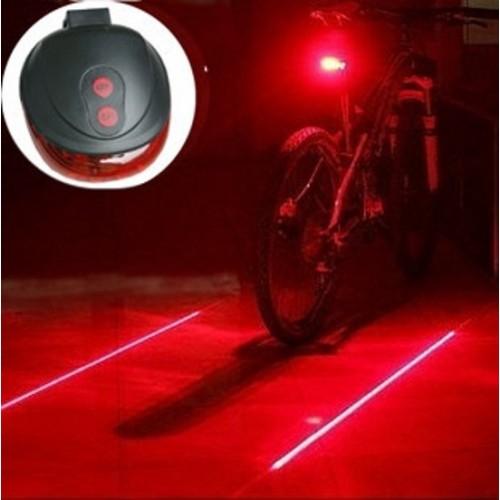 Achterlicht fiets met laser - 9 functies