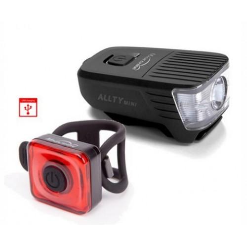 Magicshine set voorlicht 300 lumen + achterlicht- USB oplaadbaar