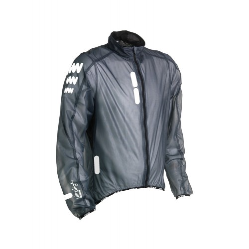 Reflecterende compacte fietsjas waterdicht - Ultralight Jacket Supersafe