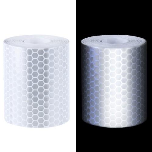 Reflecterende Tape klasse I:  1 x witte rol (5cm x 300cm)