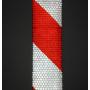 Reflecterende Tape klasse I:  1 x rood/witte rol (5cm x 300cm)